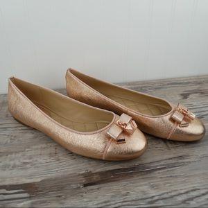 NWOT Michael Kors 9 Alice rose gold ballet flat
